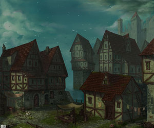 medieval and village image
