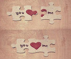 love, puzzle, and me image