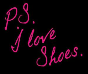 shoes, quote, and pink image