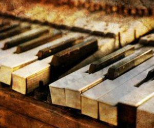piano and vintage image
