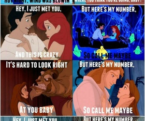 disney, call me maybe, and princess image