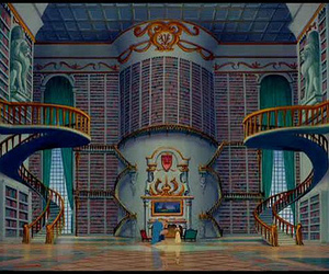 book, disney, and library image