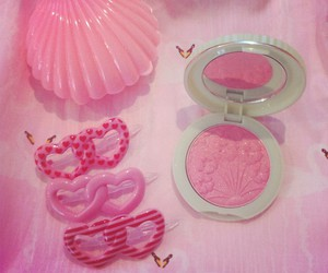 pink, heart, and shell image