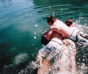 boy, water, and friends image