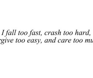 quote, care, and fall image