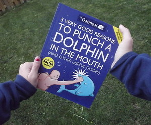 blue, book, and fun image