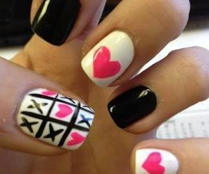 nails, heart, and black image