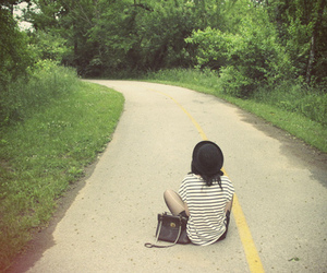 road, fashion, and girl image