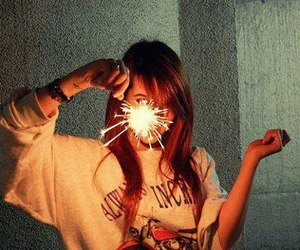 girl, sparkles, and cute image