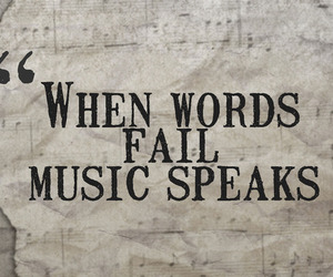 words, music, and quote image