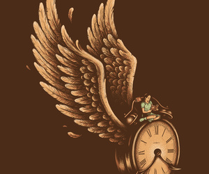 clock, time, and wings image