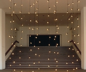 art, stair, and lights image