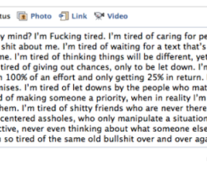 facebook, tired, and text image