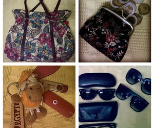 bag, coins, and sheiry image
