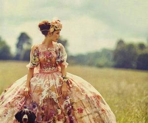 dog, dress, and vintage image