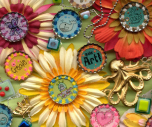 buttons, crafts, and diy image