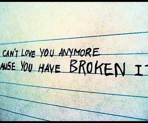 love, broken, and heart image