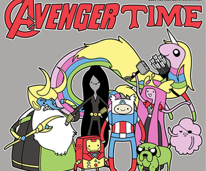 Avengers, adventure time, and finn image