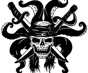 pirate, skull, and sword image