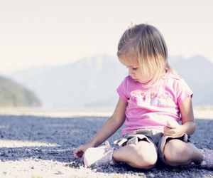 alone, little girl, and cute image