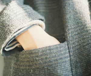 coat, tweed, and fashion image