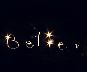 believe, light, and text image