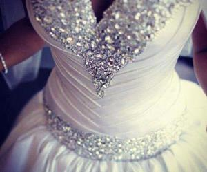 dress, wedding, and withe image