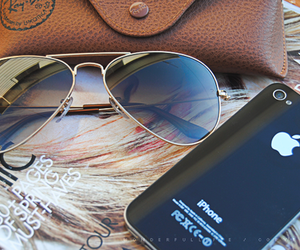iphone, summer, and sunglasses image