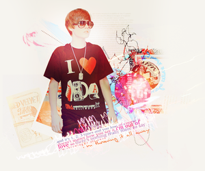 Collage, girl, and justin bieber image