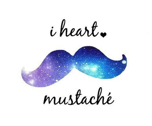 mustache, heart, and galaxy image