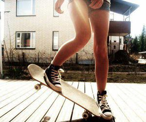 girl, skater, and photography image