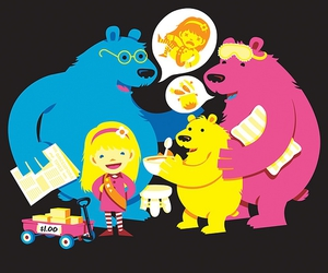 bears, colorful, and vector image
