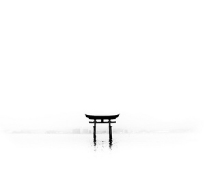 asian, black and white, and japan image