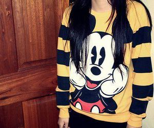 girl, mickey mouse, and style image