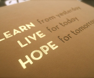 hope, learn, and live image
