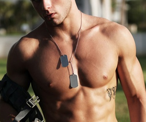 abs, model, and men image
