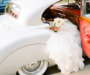 wedding, car, and white image