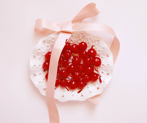 cherry, ribbon, and cute image