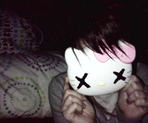 hello kitty and mask image