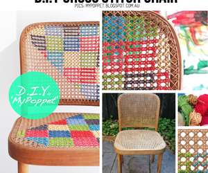 chair, cross stitch, and diy image