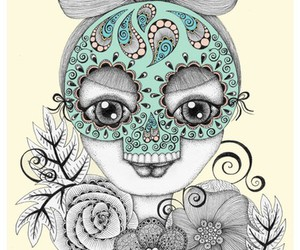 art, dia de los muertos, and day of the dead image