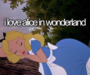alice in wonderland, love, and quote image