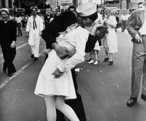 love, kiss, and times square image