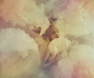 clouds, girl, and photography image