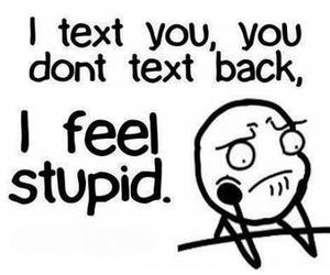 text, stupid, and quote image