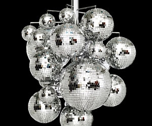 disco ball and trippy image
