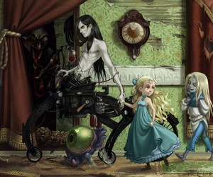 alice in wonderland, steampunk, and art image