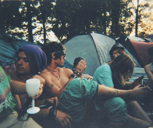 friends, boy, and camping image