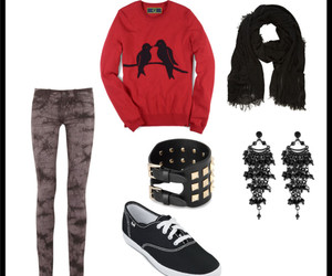 birds, earrings, and keds image