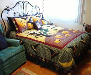 bed, bedroom, and Halloween image